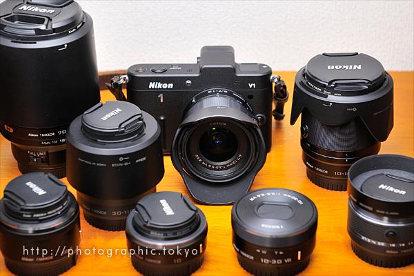 Nikon 1 V1と交換用レンズ