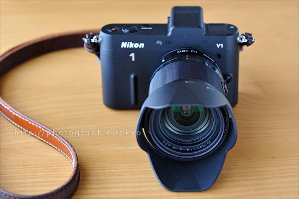 ニコン 1 NIKKOR VR 10-100mm f/4-5.6+Nikon 1 V1 正面