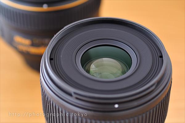 AF-S Micro NIKKOR 60mm f/2.8G EDの前玉アップ