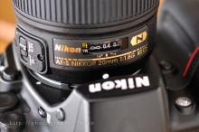 AF-S NIKKOR 20mm f/1.8G ED距離計アップ