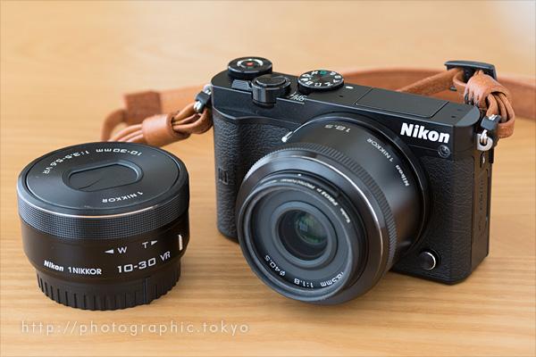 Nikon1J5本体と標準単焦点とズーム