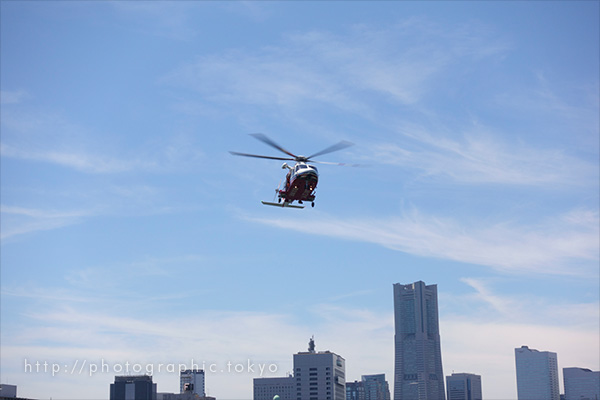 ヘリコプター撮影例補正あり