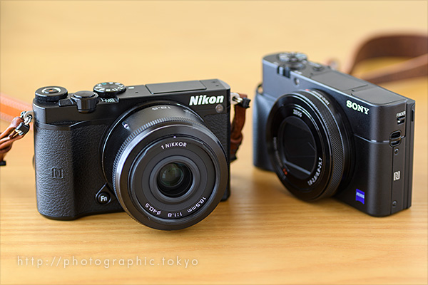RX100M5とNikon 1+18.5mm