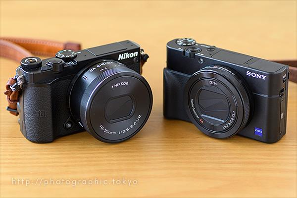 RX100M5とNikon-1-J5-OFFロング