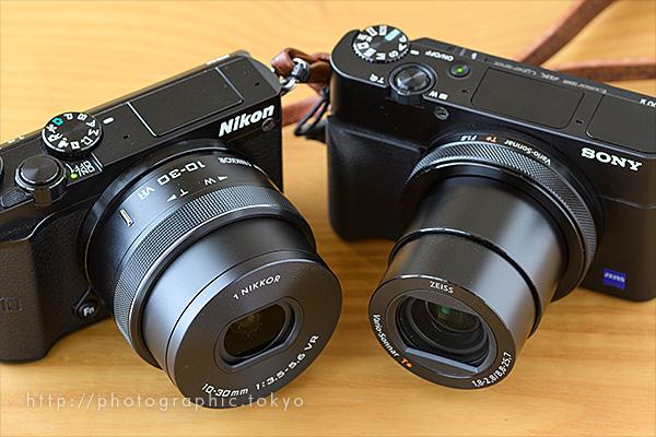 RX100M5とNikon 1 +10-30VR比較