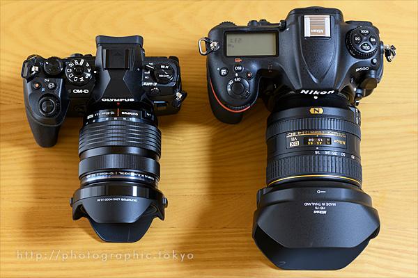 OM-D E-M1 Mark II と Nikon D500