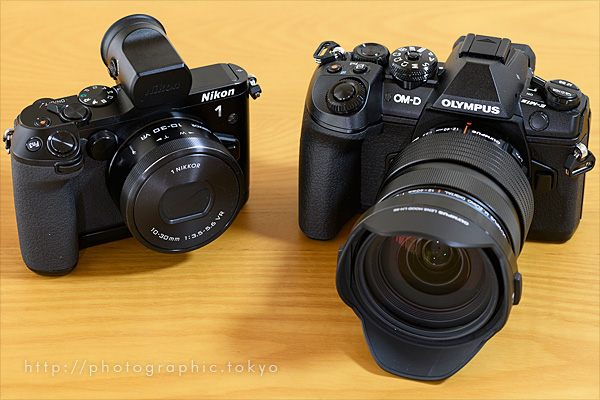Nikon 1 V3とOM-D E-M1 Mark II