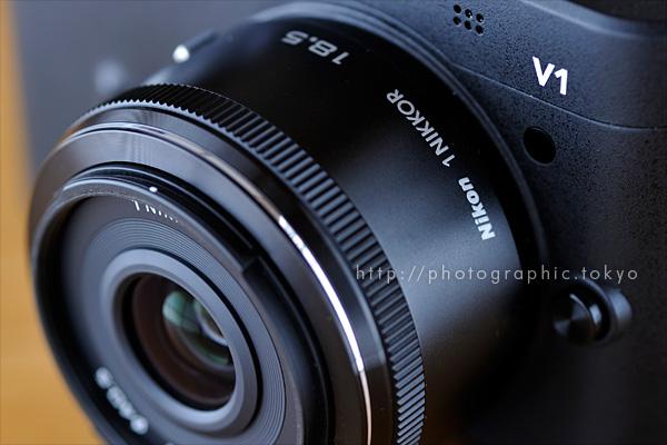 1 NIKKOR 18.5mm f/1.8 レンズ先端部拡大