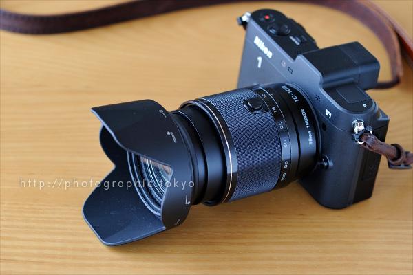 ニコン 1 NIKKOR VR 10-100mm f/4-5.6+Nikon 1 V1 沈胴状態