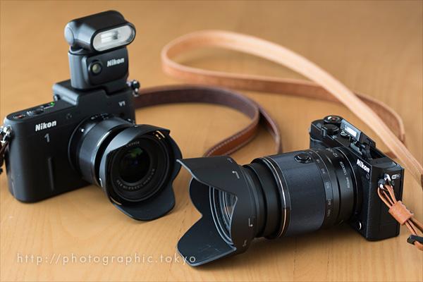 Nikon1J5とV1ストロボ比較
