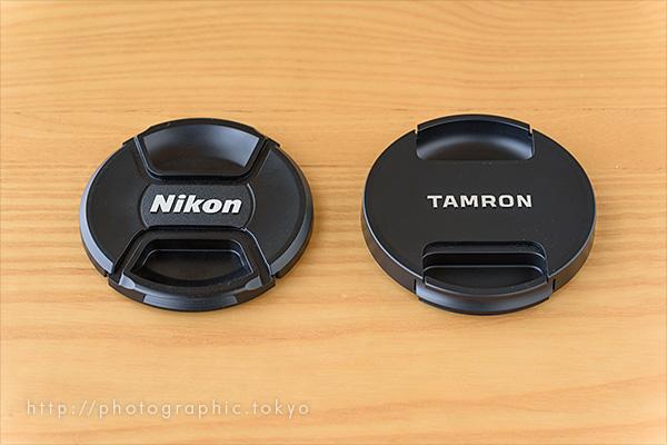 レンズキャップ(タムロンとニコン比較)