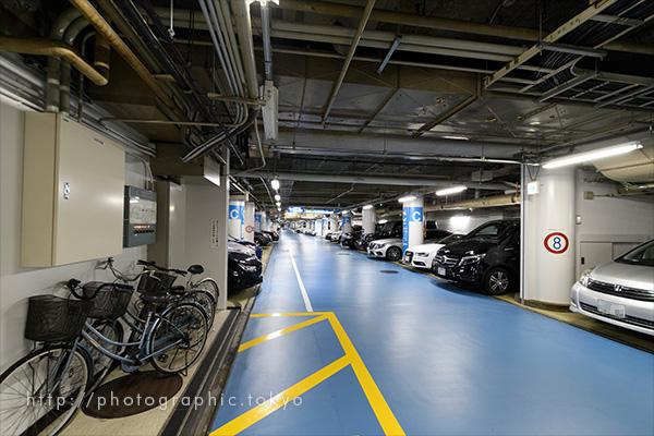 撮影例・地下駐車場
