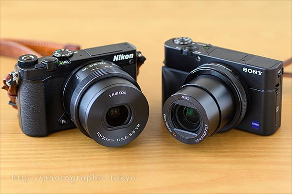 RX100M5とNikon 1 J5