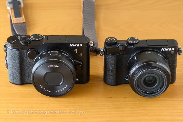 Nikon-1-V3とJ5比較